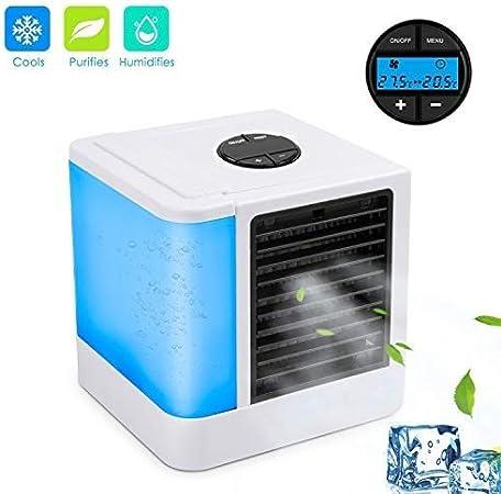 Enfriador de aire recargable, mini humidificador de aire ...