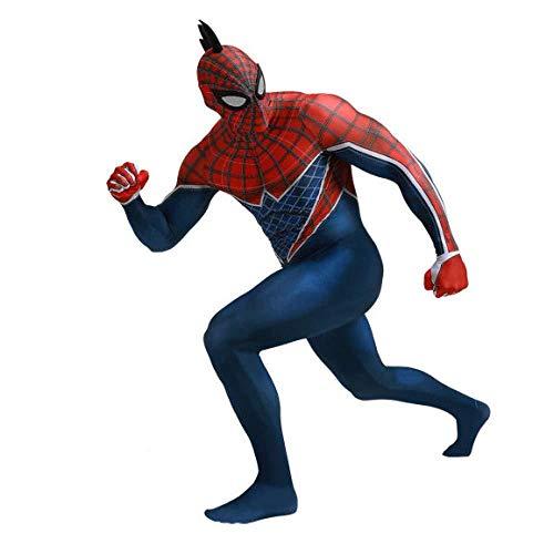 Spiderman All Inclusive Tights 3D Spandex Lycra Print Halloween Movie Props Leotard,Men-XXXL -