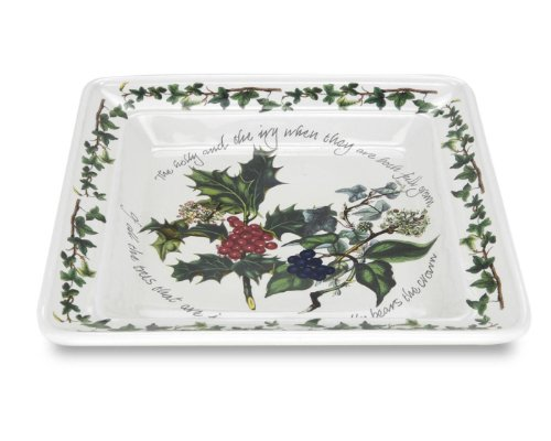 Portmeirion The Holly & The Ivy Square Salad Plate
