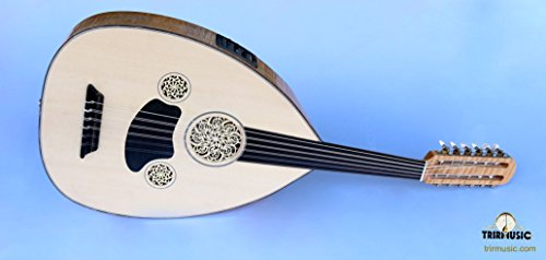 Turkish Professional Half Cut Electric Oud Ud String Instruments by Han