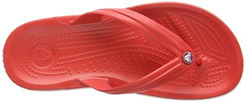 Crocs Crocband Flip Unisex Adult Flip Flop Red (Flame/White) V4smMFz2