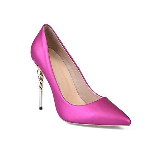 Rose Chaussures pour Chaussures Sexy Pointé Taille Haut LGLFRXZ Bleu Simples Confortable HJHY Femmes Talons Couleur 35 Mode Yqwcagf