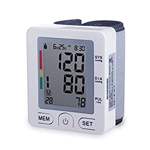 Automatic Wrist Blood Pressure Monitor FDA Approved with Portable Case, Two User Modes,180 Memory Capacity Easy to Operate & Store (white)