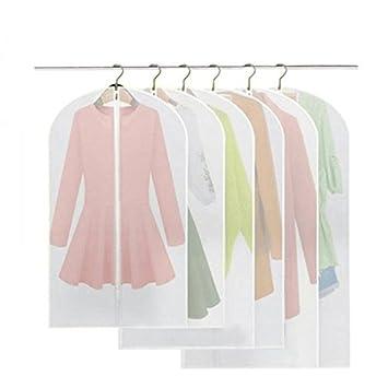Fundas, BREEZO Pack de 6 PEVA a prueba de fundas para la ropa bolsa para ropa, Full cremallera bolsa para traje, lavable transparente funda para ...
