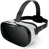 Lunettes de vis¨¦e 3D VR, YSSHUI FiiT Reality virtuelle Jeux vid¨¦o de t¨¦l¨¦phones mobiles 3D avec objectif de r¨¦sine pour t¨¦l¨¦phones cellulaires de 4,0 ¨¤ 6,0 pouces