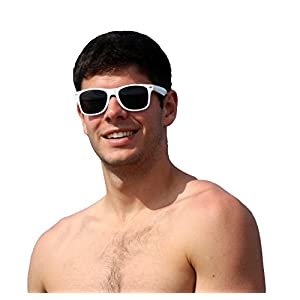 White Wayfarer Sunglasses Party Pack-12 Pure White Premium Quality Plastic-Wholesale Bulk from The Gag