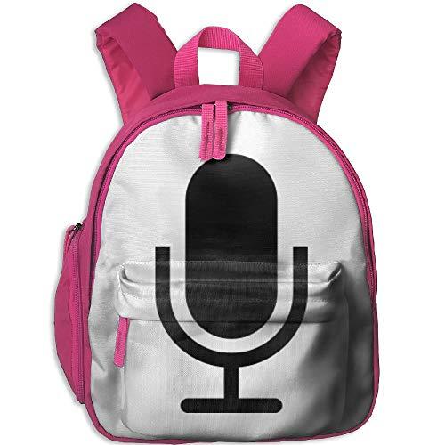 Backpack Cute Microphone | Singstar Printed Cartoon Travel School Bag For Student (Microphone Singstar Blue)