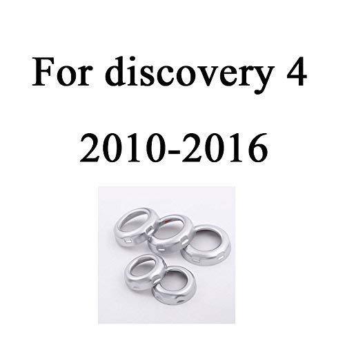 RangeRover Sport 2010-2013 Freelander 2 2013-2015 Car Accessories YIWANG 5 pomos cromados para volumen y aire acondicionado para Discovery 4 LR4 2010-2016