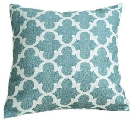 caogsh Cojín Lumbar Bordado, cojín Decorativo para sofá, diseño geométrico de algodón y Lino, cómodo y Suave Estilo nórdico Bordado Funda de cojín 18 ...