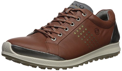 ECCO Men's Biom Hybrid 2 Hydromax Golf Shoe, Mahogany/oyester, 8 M US (Best Site For Men's Shoes)