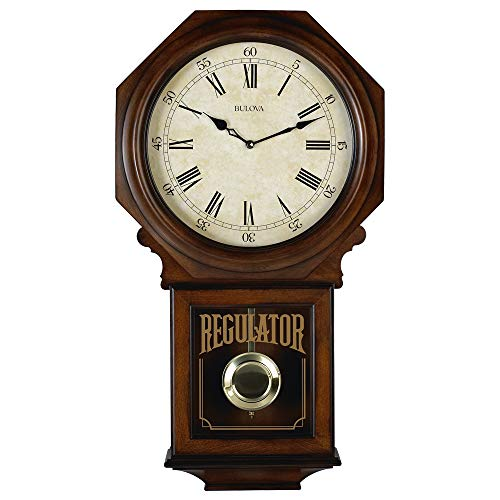 Bulova C3543 Ashford Chiming Clock, Walnut