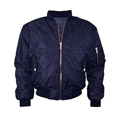 STELLA MORGAN CLOTHING harrington MA1 - Cazadora bomber para mujer (con cremallera, tallas: de XS a XL), diseño clásico azul marino