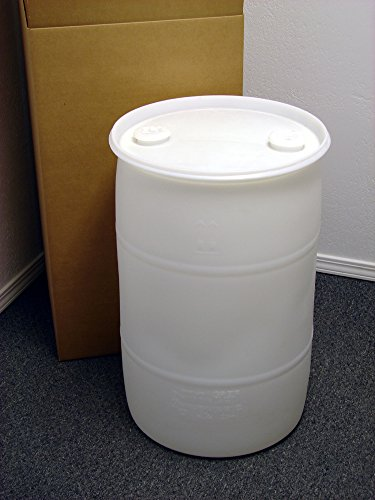 (30 Gallon Drum; Emergency Water Storage Barrel, Natural - New! - Boxed! Water Container)