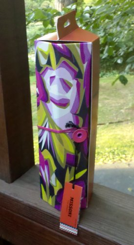 Missoni Exclusive Wine Storage Tote Box - Purple Floral Passione