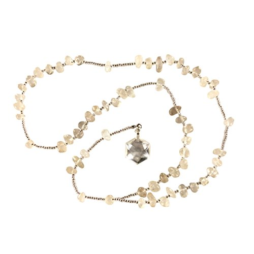 Star Of David Crystals - CrystalClear Clear Quartz Rosary - Star of David Solomon Seal Pendant Miracles Healing - Prayer Bead Necklace - Powerful - Blessed - Hand Faceted Natural Stone