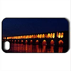 33Pol in night! - Case Cover for iPhone 4 and 4s (Ancient Series, Watercolor style, Black)