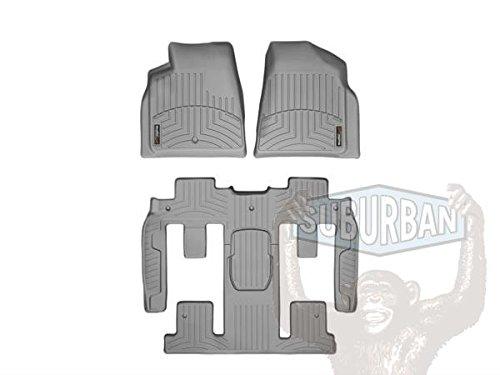 WeatherTech - 462511-461114 - 2008 - 2012 Buick Enclave Grey Complete Set (1st 2nd & 3rd Row) FloorLiner ()
