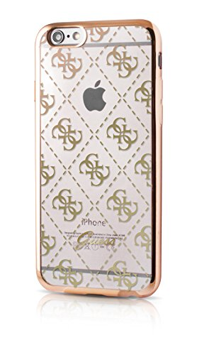 Guess GUHCP6TR4GG 4G Collection TPU Case für Apple iPhone 6/6S transparent/gold