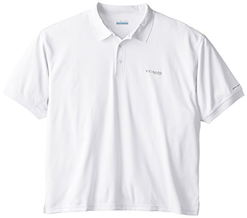 Columbia Sportswear Mens Perfect Cast Polo Shirt, White, X-Large Tall