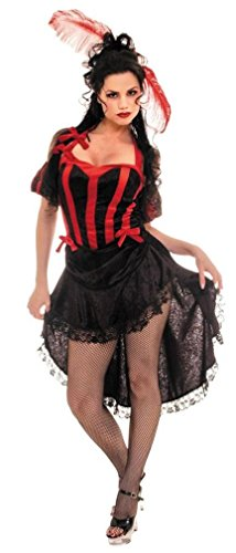 Morris Costumes UR28042LG Can Can Black Red Large