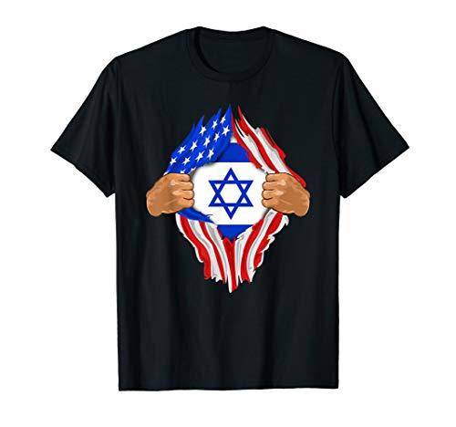 Israel Flag T-shirt - Israeli Blood Inside Me T-Shirt   Israel Flag Gift