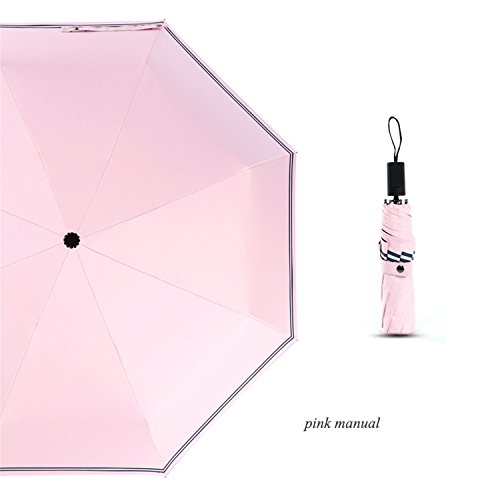 Amazon.com | Furnitureed Anti-Uv Manual Automatic Umbrella Rain Sun WomenS Umbrella Automatic Beige | Umbrellas