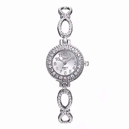 Heyuni.Crystal Watch Bracelet Full Crystal Diamonds for Ladies Quartz Round