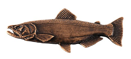 King Chinook Salmon Fish Premium Copper Plated Rare Earth Refrigerator Magnet Gift, FC040PRM Copper River King Salmon