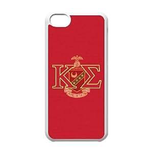 Cute TPU Case Kappa Sigma KE iPhone 5c Cell Phone Case White
