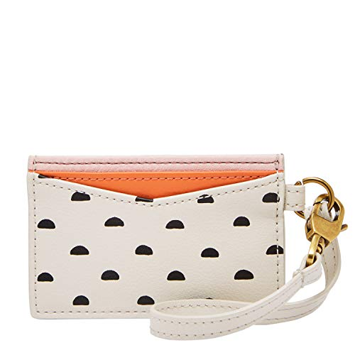 (Fossil Card Case White Multi)
