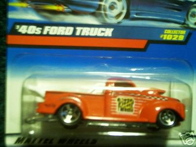 40 Ford Truck - Hot Wheels Mattel 1999 1:64 Scale Red 40's Ford Truck Die Cast Car Collector #1029