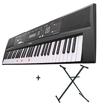Pack Yamaha EZ-220 teclado arrangeur 61 Notes - Luminoso + soporte en x: Amazon.es: Instrumentos musicales