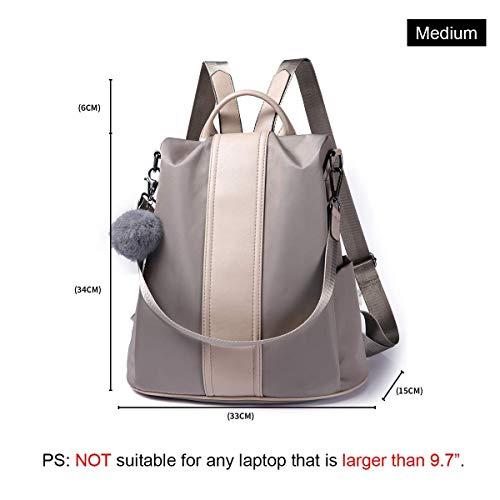 PARADOX (LABEL) Girl's Water Resistant Nylon Anti-Theft School Backpack, Khakhi