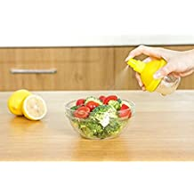 Lemon Manual Squeezer Sprayer - Citrus Lime Fruit Juice Mister Spritzer Spray Gadget with Container for Healthy Salad, Grill and Drinks / Pack of 2