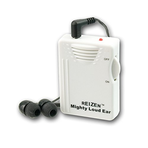 Reizen Mighty Loud Ear 120dB Personal Sound Hearing Amplifier (Clear Personal Sound Amplifier)