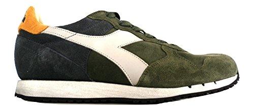 Diadora Heritage, Uomo, Trident S SW Grape, Suede / Pelle, Sneakers, Verde, 42.5 EU