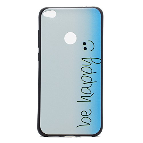 Funda P8 Lite 2017 / Honor 8 Lite , IJIA Ultrafino Ojos Divertidos ( DONT TOUCH MY PHONE ) TPU Silicona Suave Cover Tapa Caso Parachoques Carcasa Cubierta para Samsung P8 Lite 2017 / Honor 8 Lite 201 XX12