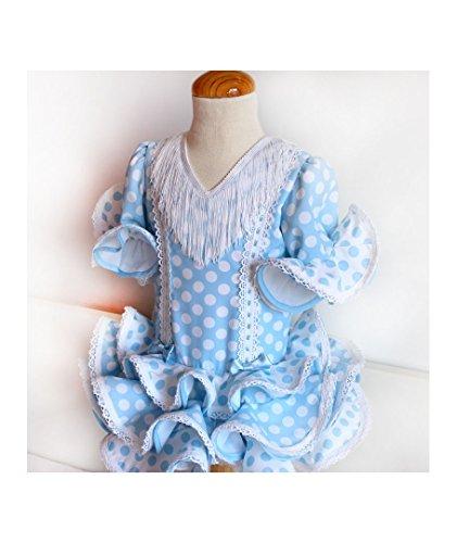 Patrón de costura vestido niña flamenca, estilo marisol, con ...