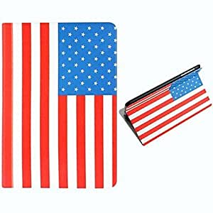 USA National Flag Pattern Polyurethane Leather Full Body Case with Stand for iPad mini/ mini 2