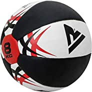 RDX Medicine Ball Gym Abs Exercises Leather Weighted Med Ball for Functional Training Fitness Great for Cleans