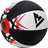 RDX Medicine Ball Gym Abs Exercises Leather Weighted Med Ball for Functional Training Fitness Great for Cleans, Crunches Available in 5,8,10 and 12KG