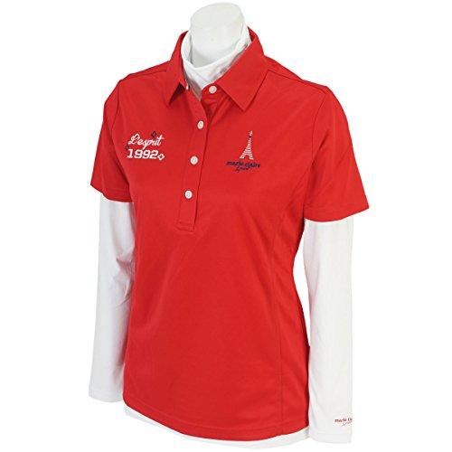 マリクレール marie claire 長袖ハイネックインナーシャツ付き半袖シャツ 735517 レディス レッド LL