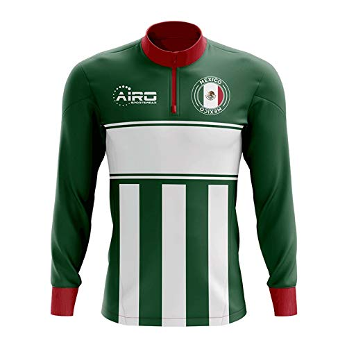 Airo Sportswear Mexico Concept Football Half Zip Midlayer Top (Green-White)