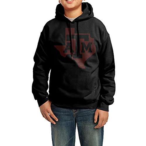 QSDFE Youth Boys/Girls Hoodies Texas A&m University Black Size XL (Texas A&m Reveille Costume)