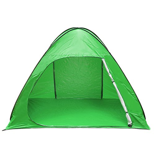 SunnyRoyal 2-3Person Portable Beach Tents,Easy Pop Up Tent, Automatic Outdoor Camping Tent for Fishing Hiking Picnicing Backpacking 90% UV Protection Sun Shelter Beach Shade for Baby (Light Green)