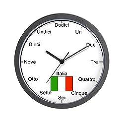 CafePress - Italian Language Wall Clock - Unique Decorative 10 Wall Clock