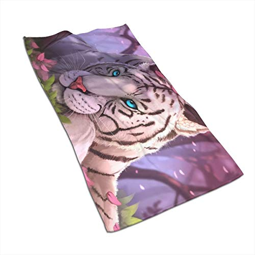 2vf78wew11 White Tiger Microfiber Cooling Towel,Soft Skin Care,Strong Water Absorption,Suitable for Families,Outdoor and Sports ()