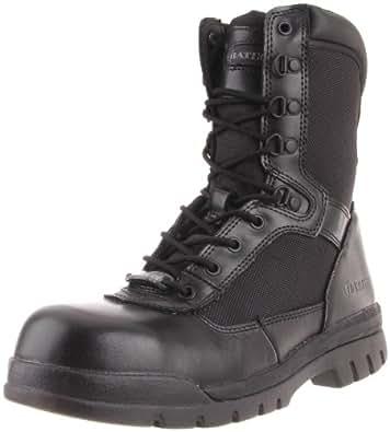 Bates Men's Safety Enforcer 8 Inch L N ST Uniform Work Oxford, Black, 7 M US
