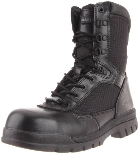 Bates Men's 8 Inches Steel Toe Side Zip Work Boot,Black,8