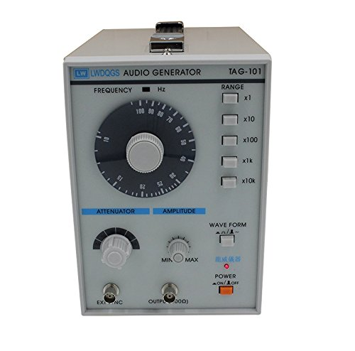 TIWWS TAG-101 Sine/Square Wave Audio Generator Function Signal 10 to 1Mhz Precision Signal Generator